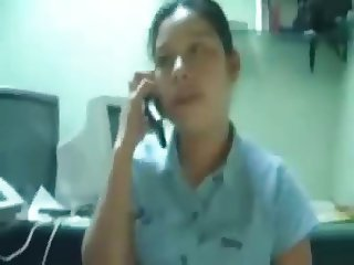 Girl sucking cock while on the phone