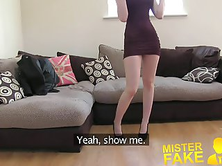 MisterFake Sexy Italian babe shows unbelievable deep throat