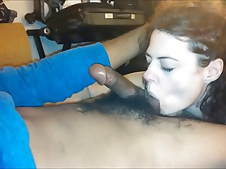 Wife Gives Friend Long Slow Blowjob