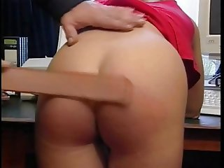 Blonde with nice ass gets spanked