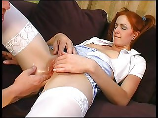 Hot chick banged by a big monster cock