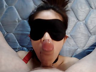 My 50 years old Leashed slut wife suck my cock