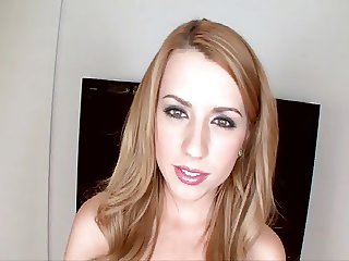 Pretty young girl with sweet eyes does audition