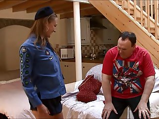 British brunette Paige Taylor fucked by old man