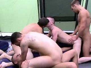 Gay orgy He embarks of with a group truth or dare and it\'s a