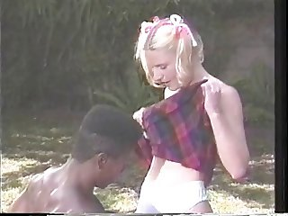 Pigtail cheerleader fucking jocks big black dick outdoor