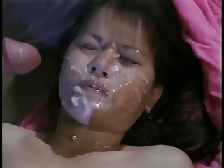 Tiny asian bukkake