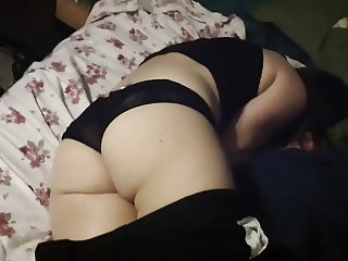 Big ass in panties fucked