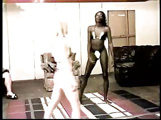 black vs white catfight