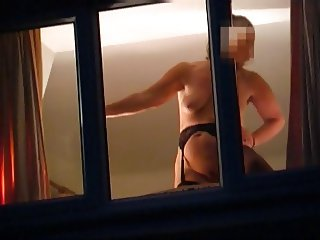 flashing in the window