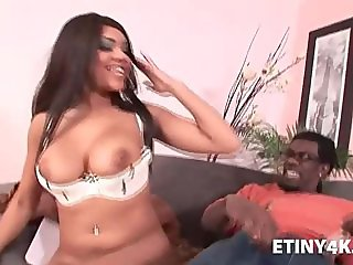 Teen ebony fucked by delivery man