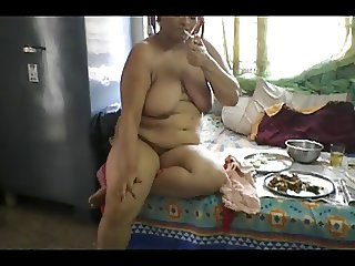 smoking desi aunty