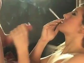 Blonde BBW smoking sex 120s