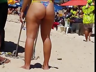 hot brazilian ass at beach 44  2015