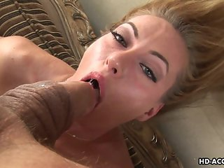 Very hot skank is all over the big fat pecker
