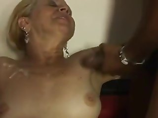 Blonde Brazilian Mature 65yr Gangbang