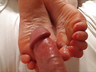 Footjobs and foot worship with POV cumshot