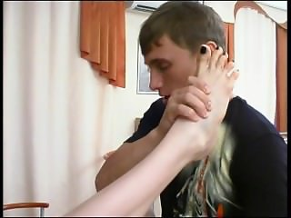 Footjob and Creampie