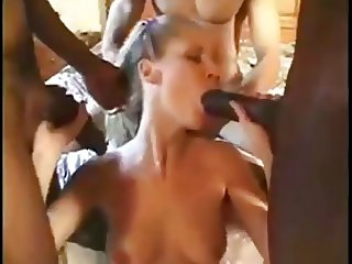 Teen gangbangs 3 monster dicks for money