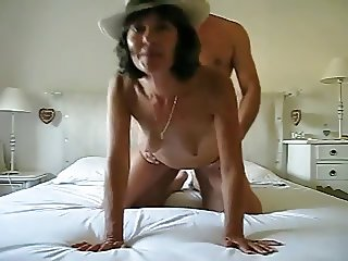 Hot slutty girl getting fucked in bed