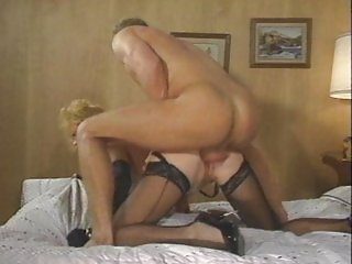 Horny vintage bitch melking cock out