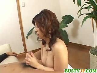 Busty Hazuki loves big cocks