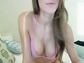 Big tits wife makes naughty video for her husband