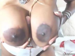 Enormous titted ebony Nikki Tailor