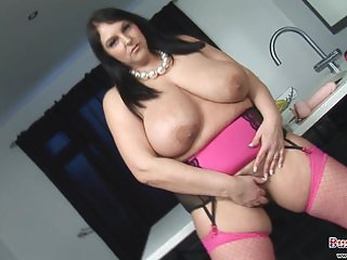 Carol Brown's big tits and horny pussy