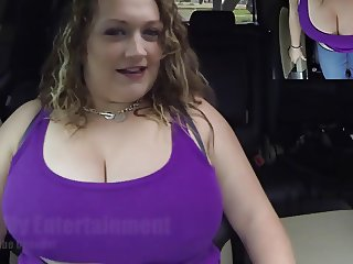 Car Girl With Huge Boobs