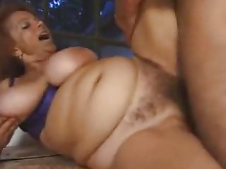 Big titted hairy granny outdoor