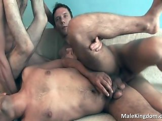 Four hot dudes are completely naked