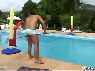 Black Muscled Gay Fuck The Pool Maintenance