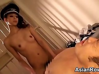 Asian Guard Has Fun With Prisoners