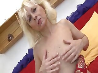 Granny with flabby body & guy with long dick