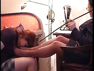 Mature Foot Sniffing