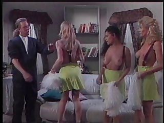 Stud spanking three girls behinds