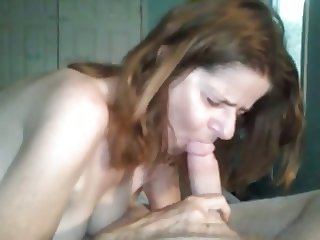 Wife tries hardcore sucking