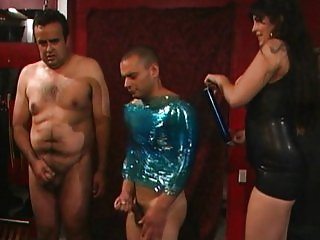 Two guys ready for punishment
