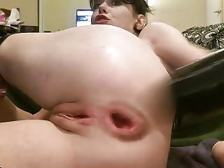 Anal dildo for wide open asshole