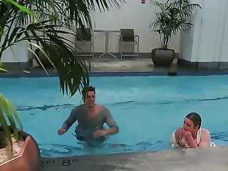 PvP Jeana gets thrown in the pool twice