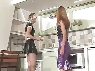 Me in latex maid with my mistress