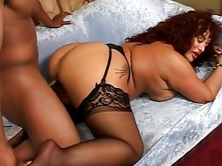 Fat Ebony Slut Fucked Then Facialized