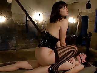 She orders him to make ass clean and give her pleasure