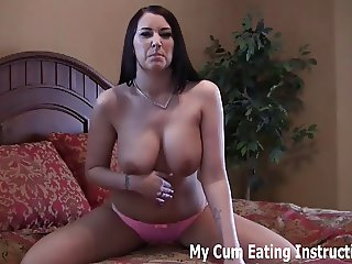 I have been waiting to make you eat your cum all day CEI