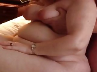 BBW Wife Clair Dildo and Fucked