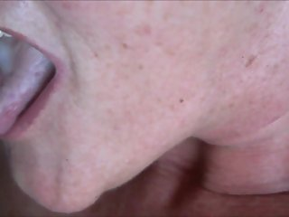 Cumming Into Granny's Mouth HD Closeup