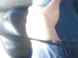 Touching in Bus . Mature