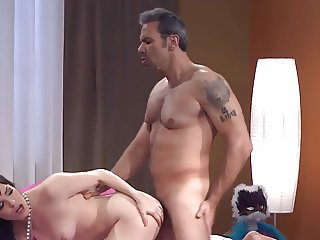 Gets hard sex and cum on body