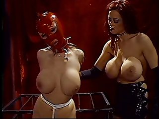 Lesbian gimp with her master